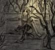 Melancholie, Zeichnung, Skizze, Vergessen