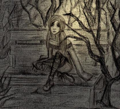 Vergessen, Hoffnungslosigkeit, Melancholie, Zeichnung, Skizze, Zeichnungen