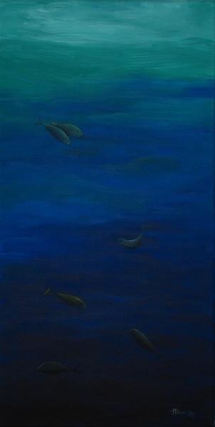 Treiben, Meer, Blau, Malerei, Schwerelos,