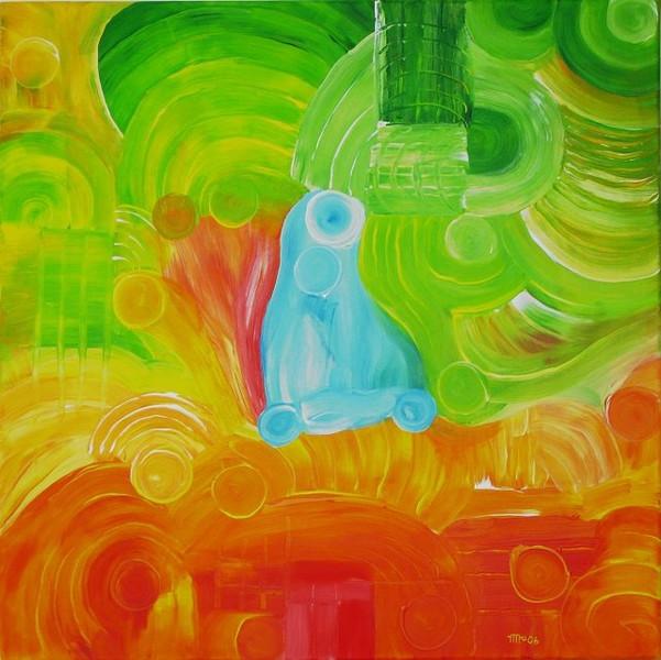 Helligkeit, Farben, Abstrakt, Sommer, Malerei
