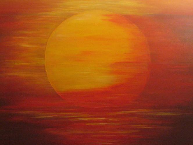 Abstrakt, Malerei, Sonnenaufgang