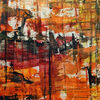 Abstrakt, Spachtel, Acrylmalerei, Gemälde