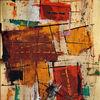 Abstrakt, Airbrush, Acrylmalerei, Rot