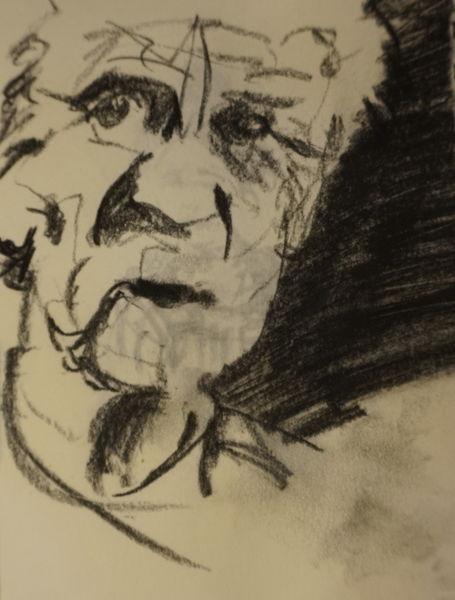 Mann, Tag, Kohlezeichnung, Alter, Zeichnungen,