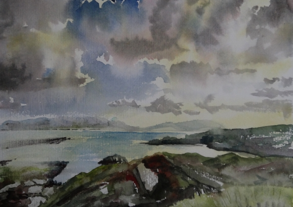 Irland küste, Aquarell, Küste