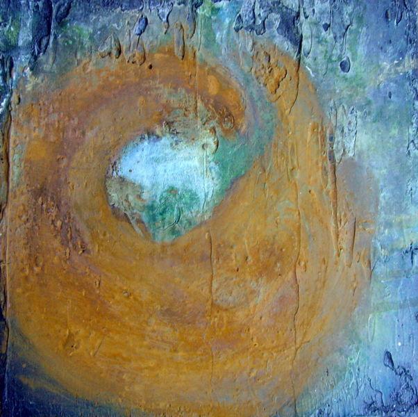 Grün, Rost, Struktur, Patina, Blau, Marmormehl