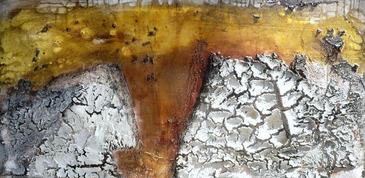 Marmormehl, Leim, S6060cm x chellack, Beize, Kaffee, Pigmente