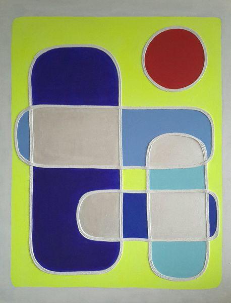 Rot, Raum, Gelb, Blau, Neon, Malerei