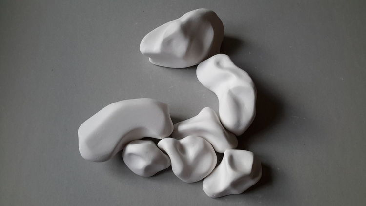 Formen, Gips, Weiß, Grau, Plastik, Skulptur