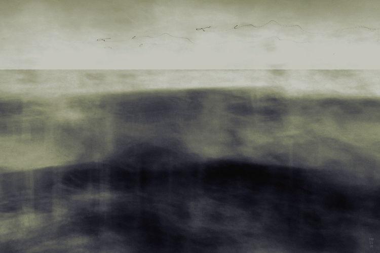 Horizont, Drunter und drüber, Deckmantel, Mischtechnik