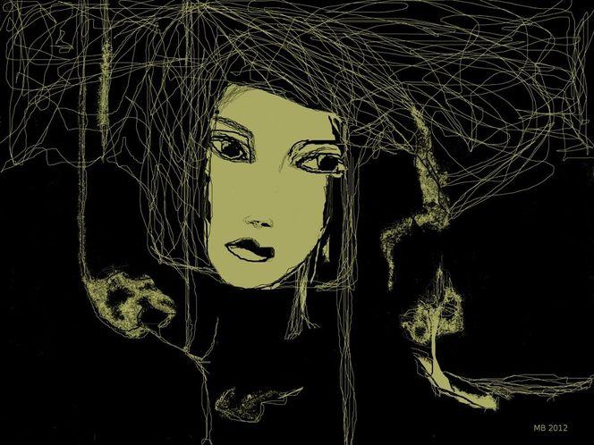 Spinnennetz, Symbolisch, Schwarz, Grafik, Surreal