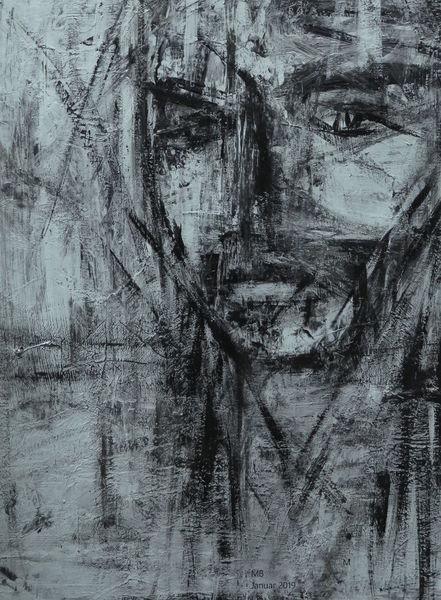 Verlust, Grenze, Sperrgebiet, Gesicht, Malerei