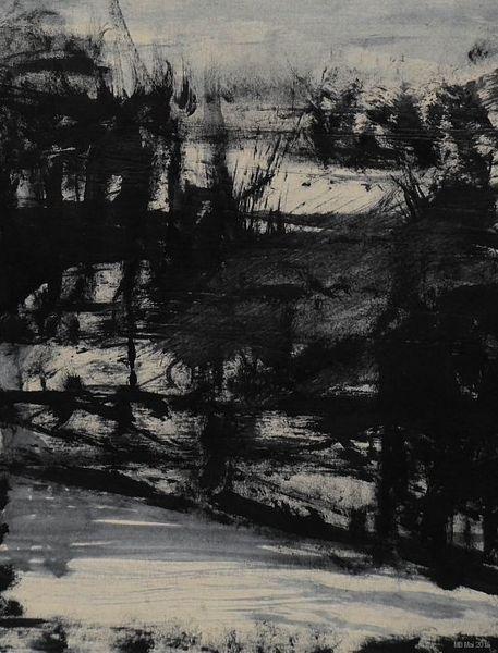 Licht, Schatten, Perspektive, Schwarzweißgrau, Malerei