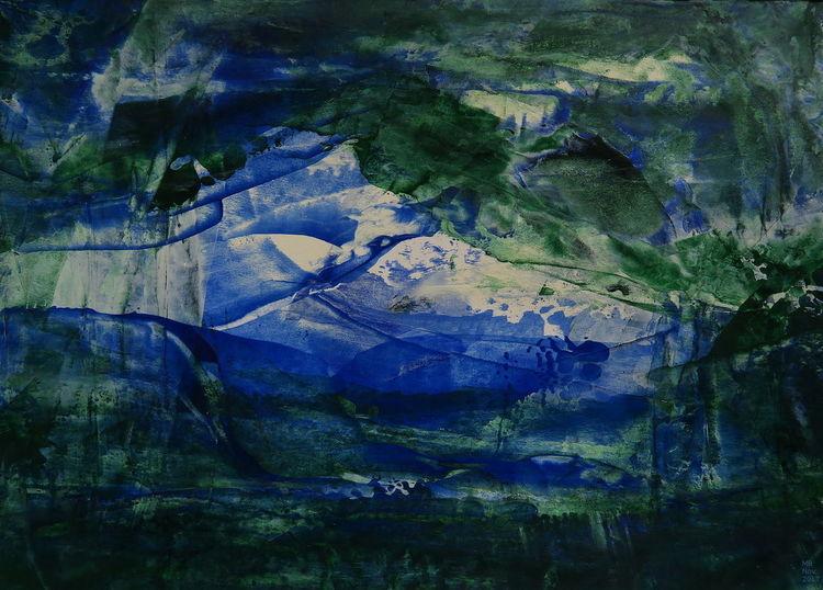 Elfenbein, Ultramarin, Grün, Malerei