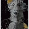 Gesicht, Schleier, Portrait, Gelb