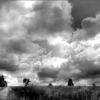 Wolken, Landschaft, Schwarzweiß, Fotografie