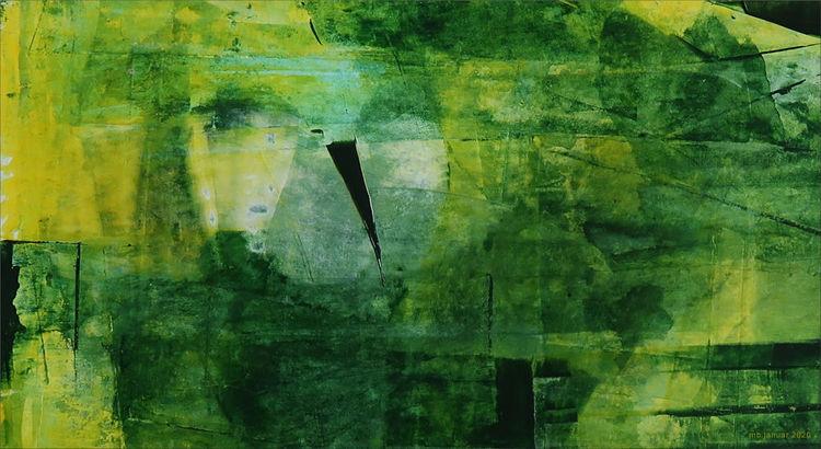 Grün, Gelb, Blau, Malerei