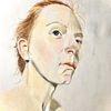 Portrait, Frau, Rothaarig, Zeichnungen