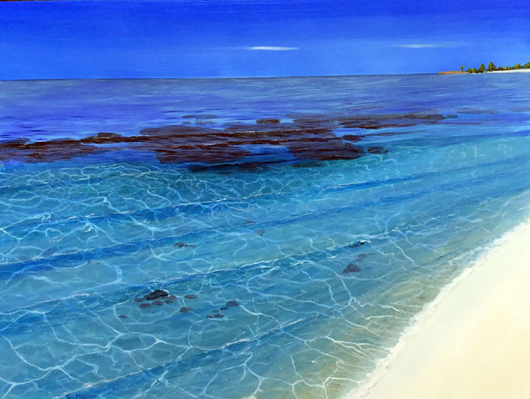 Malediven, Urlaub, Meeresstrand, Süden, Wasser, Meer