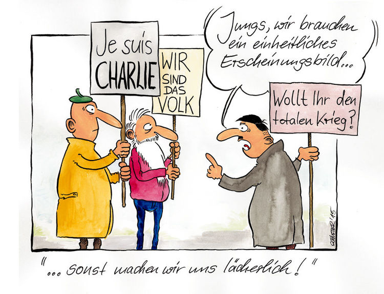 Pegida, Karikatur, Cartoon, Zeichnungen,