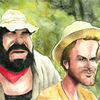 Cartoon, Terence hill, Bud spencer, Karikatur