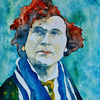 Portrait, Aquarellmalerei, Gera, Zeichnung