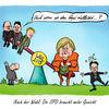 Gysi, Karikatur, Angela merkel, Cartoon