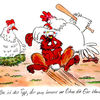 Ostern, Karikatur, Hase, Cartoon