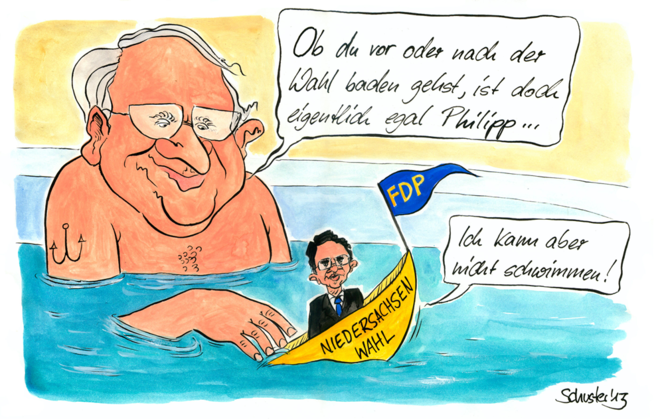 Rößler, Wahl, Cartoon, Brüderle, Fdp, Karikatur