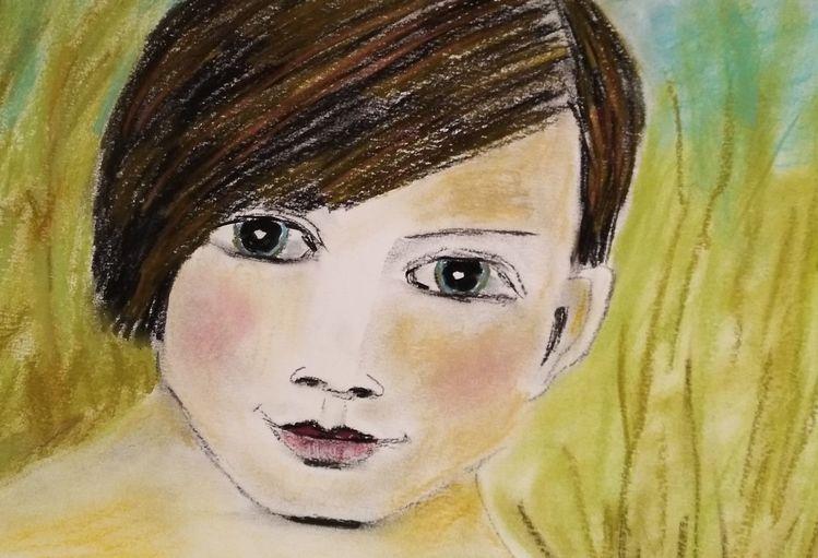 Kritzelei, Kreide, Freundlich, Zeichnungen