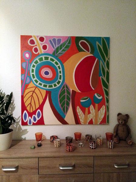 Bunt, Blumen, Fantasie, Malerei, Frühling