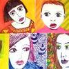 Gelb, Gesicht, Rot, Zeichnungen