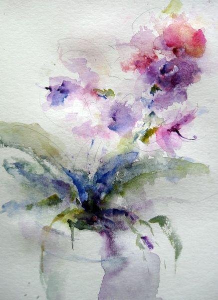 Aquarellmalerei, Schicht, Blumen, Nass, Aquarell