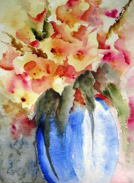 Nass, Aquarellmalerei, Pflanzen, Blumen, Aquarell