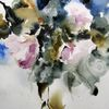 Schicht, Blumen, Nass, Aquarellmalerei