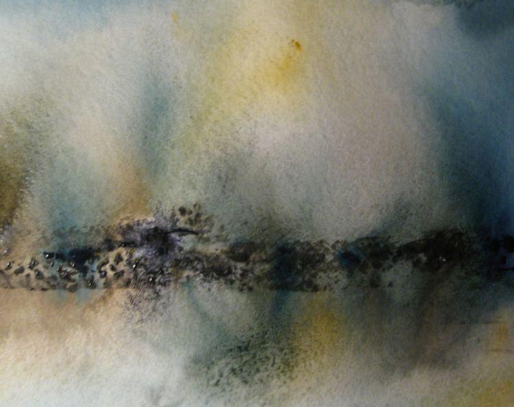 Nass, Schicht, Abstrakt, Aquarellmalerei, Aquarell