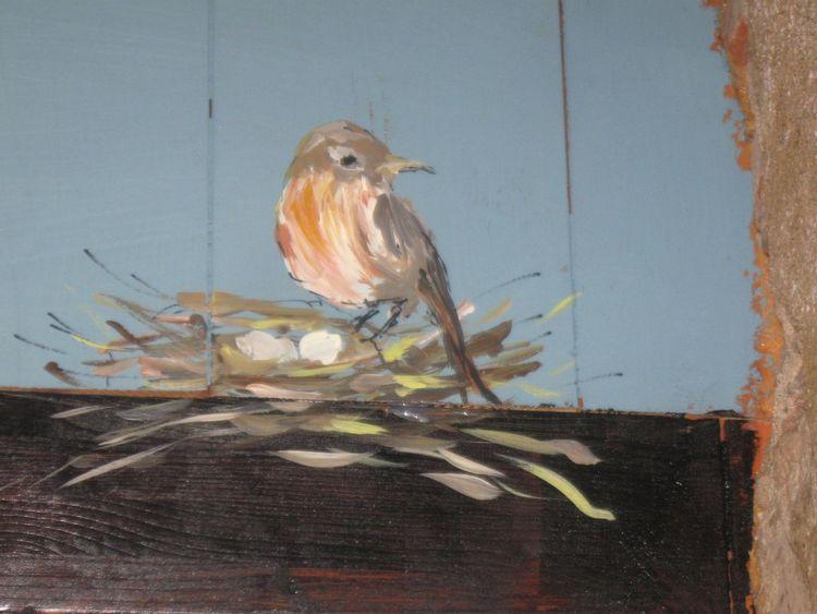 Acrylmalerei, Malerei, Tiere, Vogel