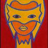 Yasmina - yasmina, abstrakt, italien, portrait, frau, theater, pulcinella
