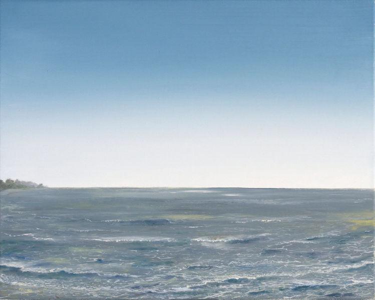 Welle, Malerei, Realismus, Meer, Küste, Ölmalerei