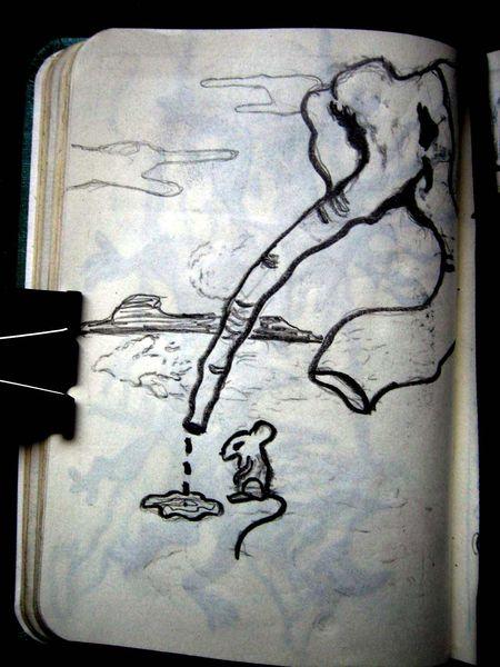 Elefant, Maus, Zeichnungen, Tiere