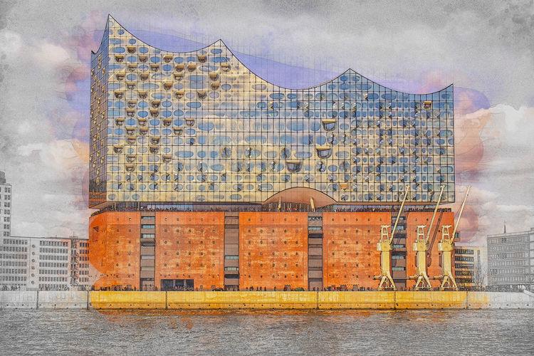 Photoshop, Fotografie, Elbphilharmonie, Hamburg