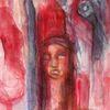 Rot, Menschen, Surreal, Malerei