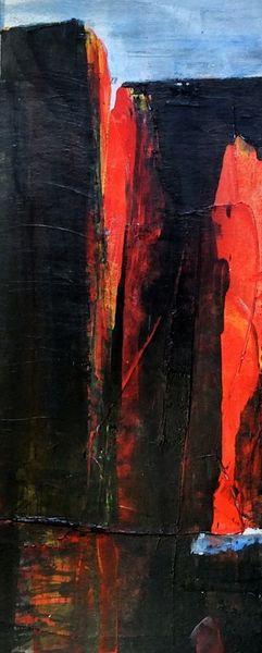 Architektur, Traum, Rot, Malerei