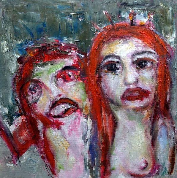Rot, Wahn, Psyche, Malerei, Hippie