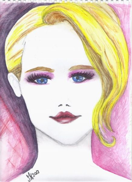 Aquarellmalerei, Mode, Illustration, Gesicht, Portrait, Frau