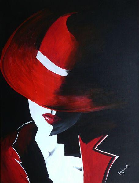 Mund, Leben, Rot schwarz, Portrait, Frau, Kleidung