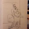 Morgenmantel, Nachdenklich, Frau, Zeichnungen