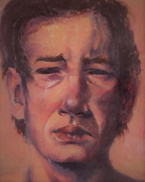 Ausdruck, Anstrengung, Gefühl, Malerei, Trauer