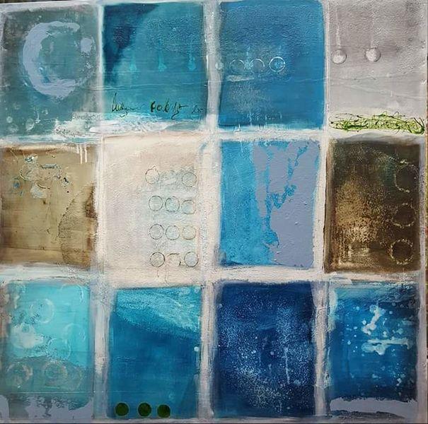 Abstrakt, Grau, Verwittert, Kreis, Vergänglichkeit, Malerei