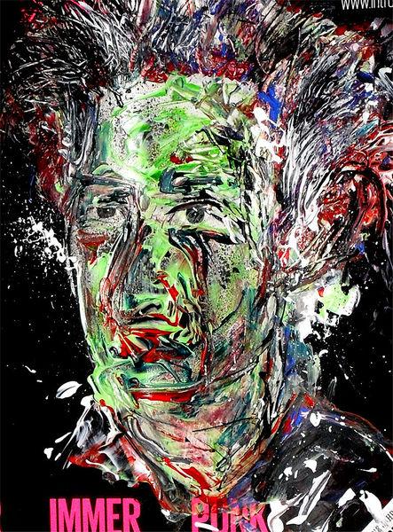Punk, Expressionismus, Gesicht, Bunt, Farben, Malerei